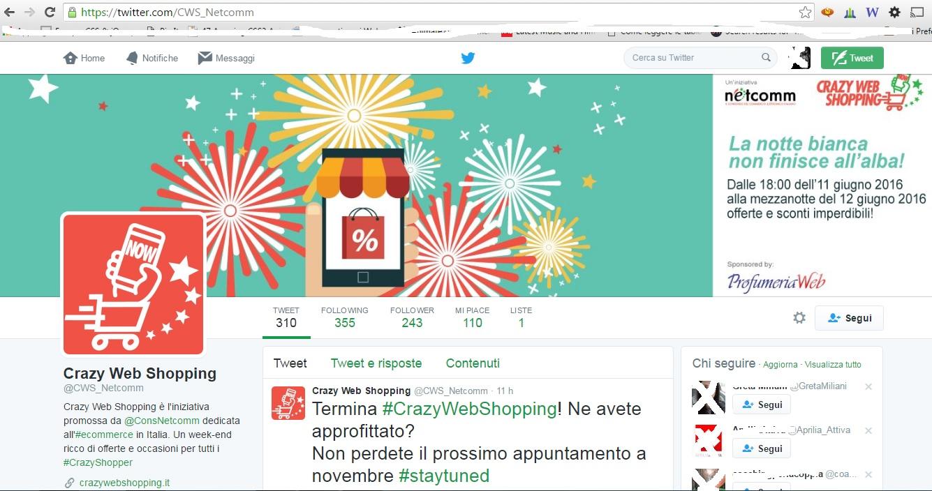 profilo twitter crazy web shopping
