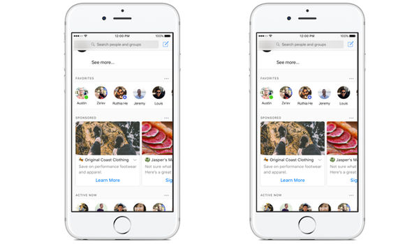 Facebook ads al'interno di messenger