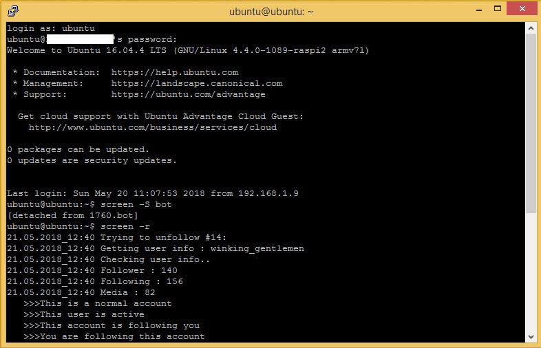 schermata ubuntu